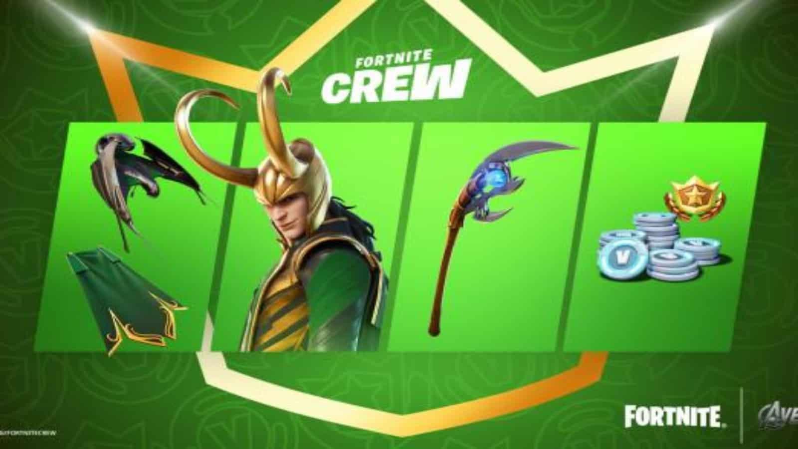 How to Get the Fortnite Loki Skin in Crew Pack: Season 7