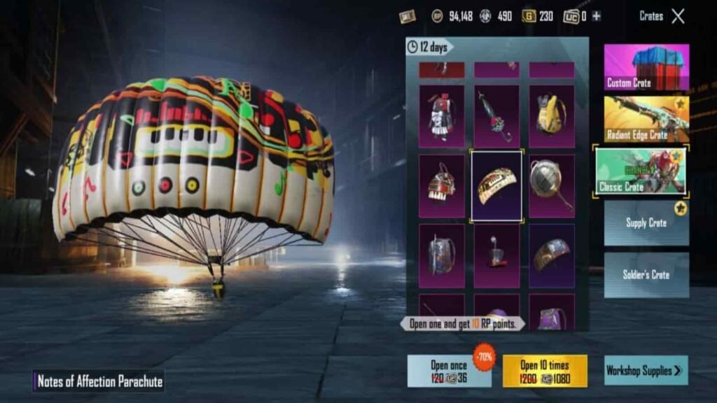 Top 5 parachute skins in BGMI