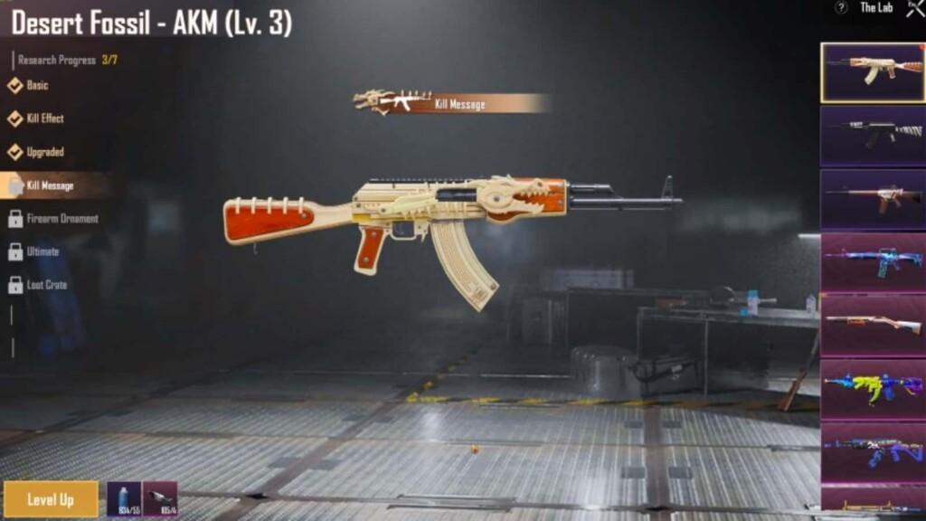 legendary gun skins in bgmi