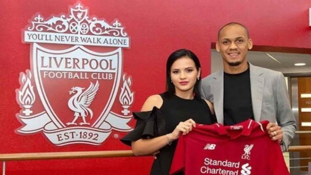 Fabinho and his wife Rebeca