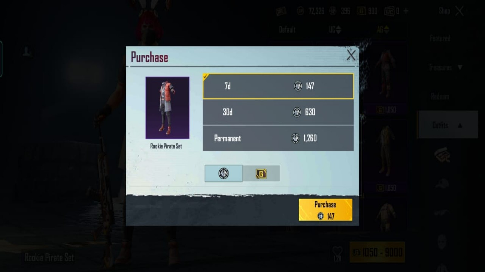 How to Buy Outfits Using Ace Gold in BGMI