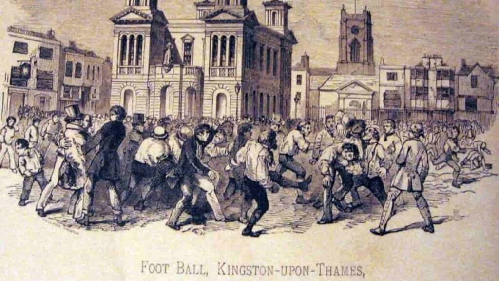 History of football: it was common in English public schools