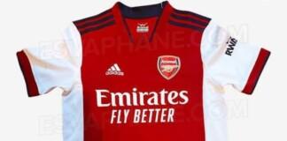 Arsenal 2021/22 home kit