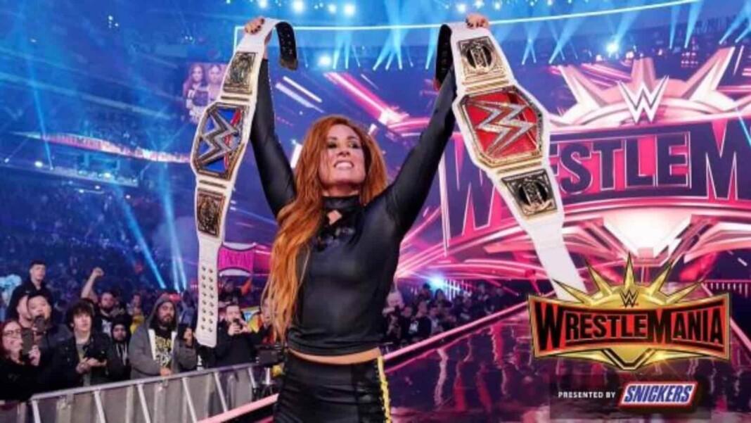 Becky Lynch won both the Women's championships at WrestleMania 35