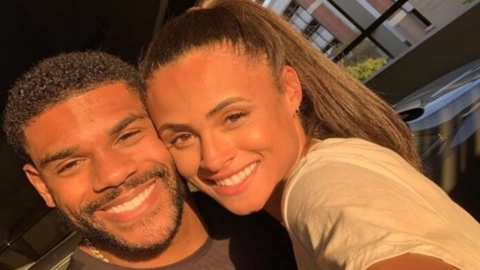 Sydney McLaughlin and Andre Levrone Jr