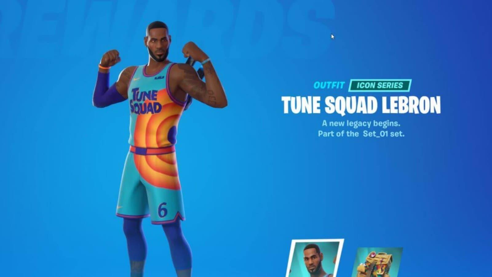 Fortnite LeBron James Skin in Season 7 Icon Series