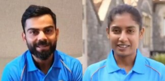 Indian captains Virat Kohli and Mithali Raj in BCCI video