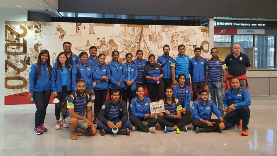 Indian shooting team in Tokyo