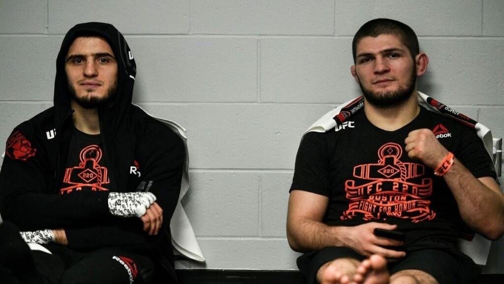 Islam Makhachev and Khabib Nurmagomedov