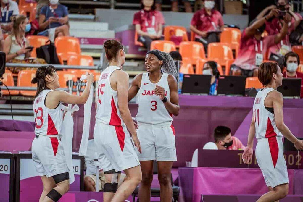 Japan-Womens-Team-in-3v3-Basketball-at-Tokyo-olympics