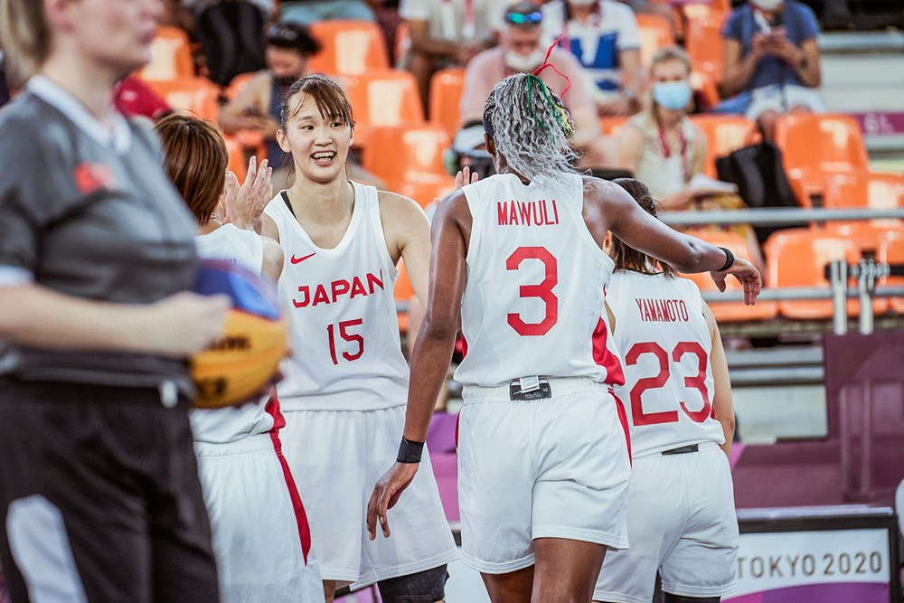 Japan Women's Team in 3v3 Basketball at Tokyo Olympics