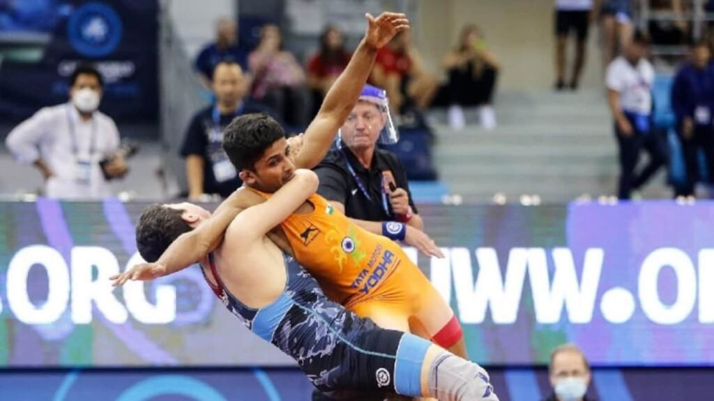 Jaskaran Singh at World Cadet Wrestling Championships 2021