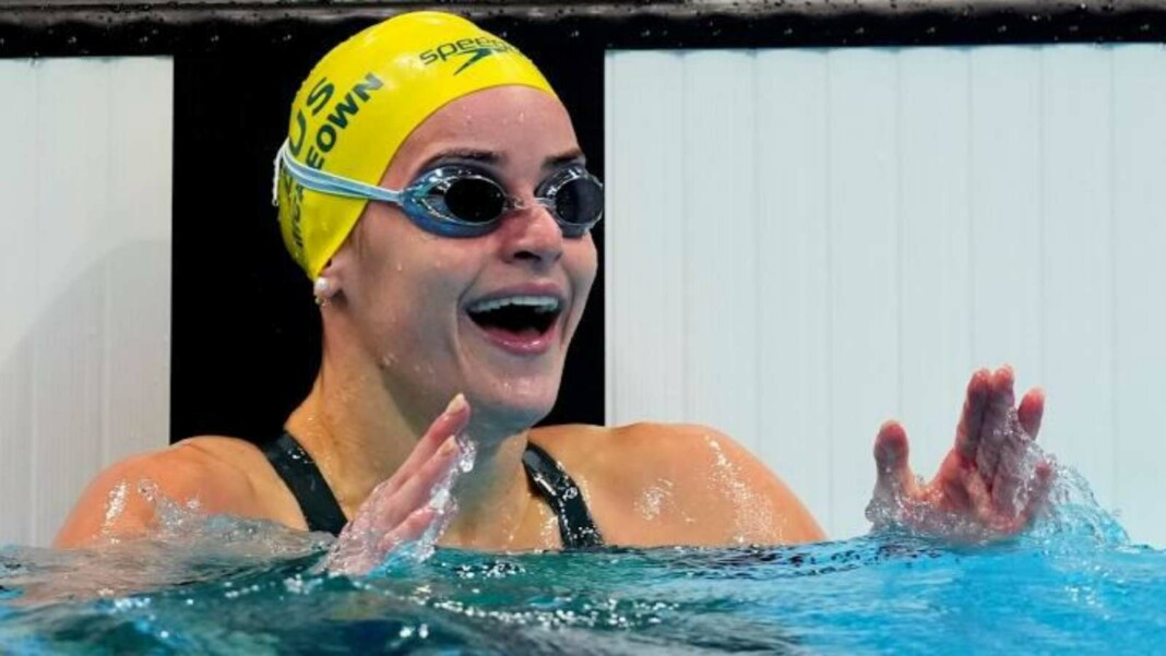 Kaylee McKeown sets women's 100m breaststroke Olympic Record
