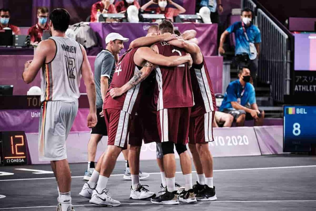 Latvia Beat Belgium in Mens 3v3 baskrtball semi finals 1 - FirstSportz