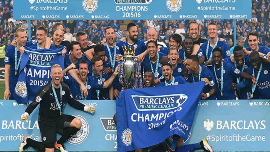 Leicester City premier League champions in 2016-17