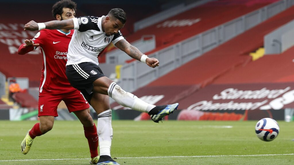Lemina in action for Fulham in the Premier League - FirstSportz