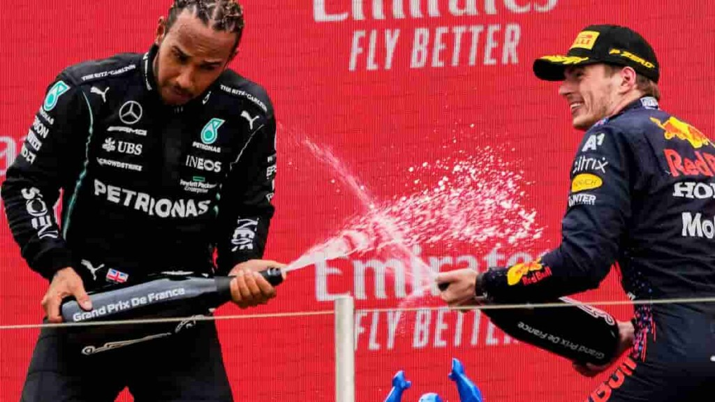 Lewis Hamilton on Max Verstappen