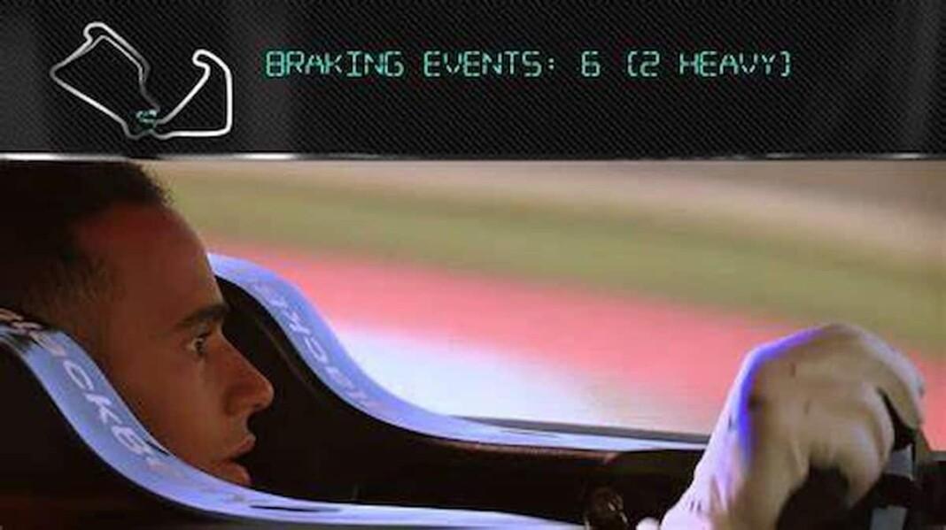 Lewis Hamilton on Simulator