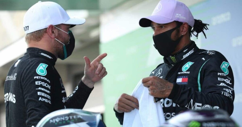 Lewis Hamilton on Valtteri Bottas