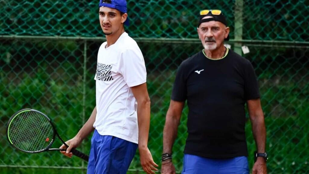 Lorenzo Sonego's coach Gipo Arbino