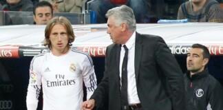 Luka Modric and carlo Ancelotti