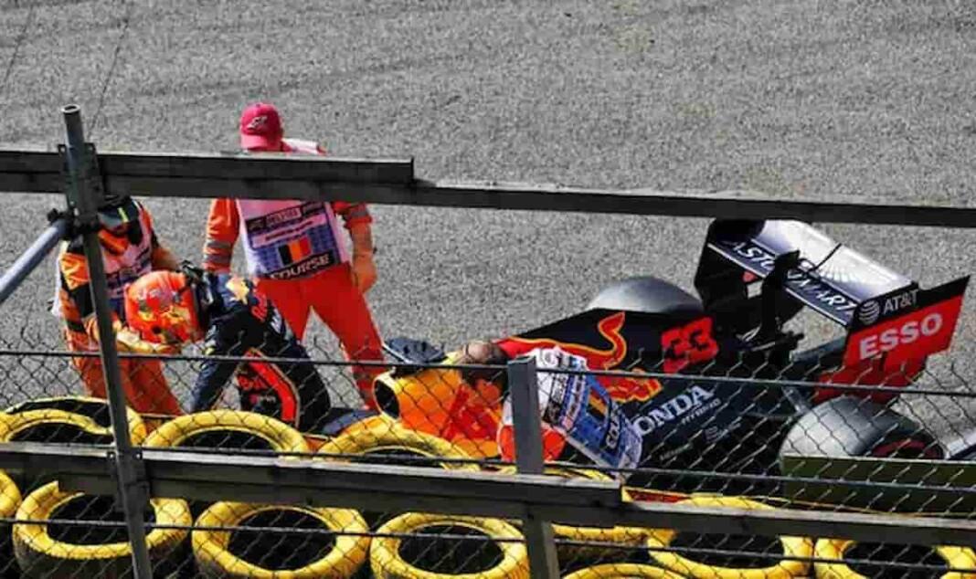 Max Verstappen Crash at British GP