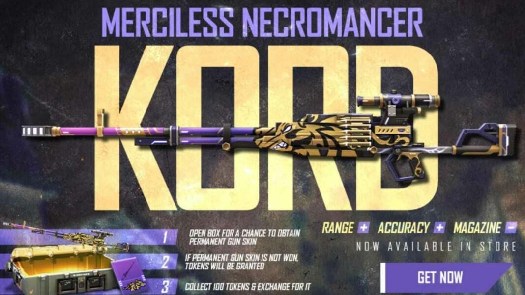 Merciless Necromancer Kord in Free Fire