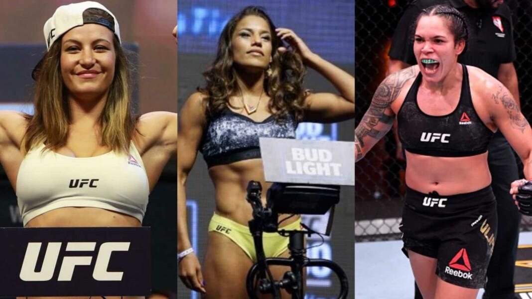 Miesha Tate, Julianna Pena and Amanda Nunes