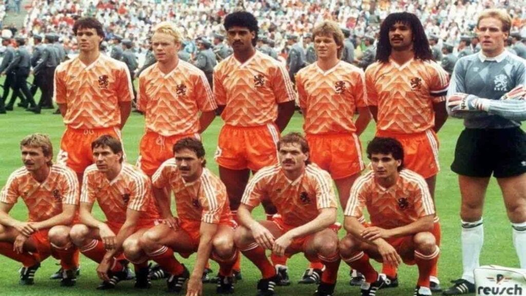 Netherlands team which won the 1988 edition