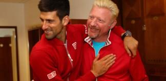 Novak Djokovic and Boris Becker