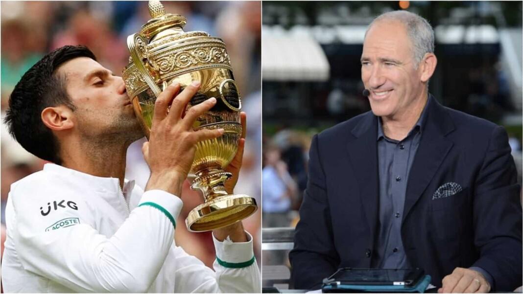 Novak Djokovic and Brad Gilbert