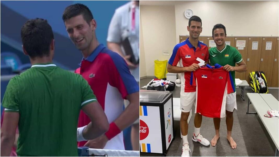 Novak Djokovic and Hugo Dellien