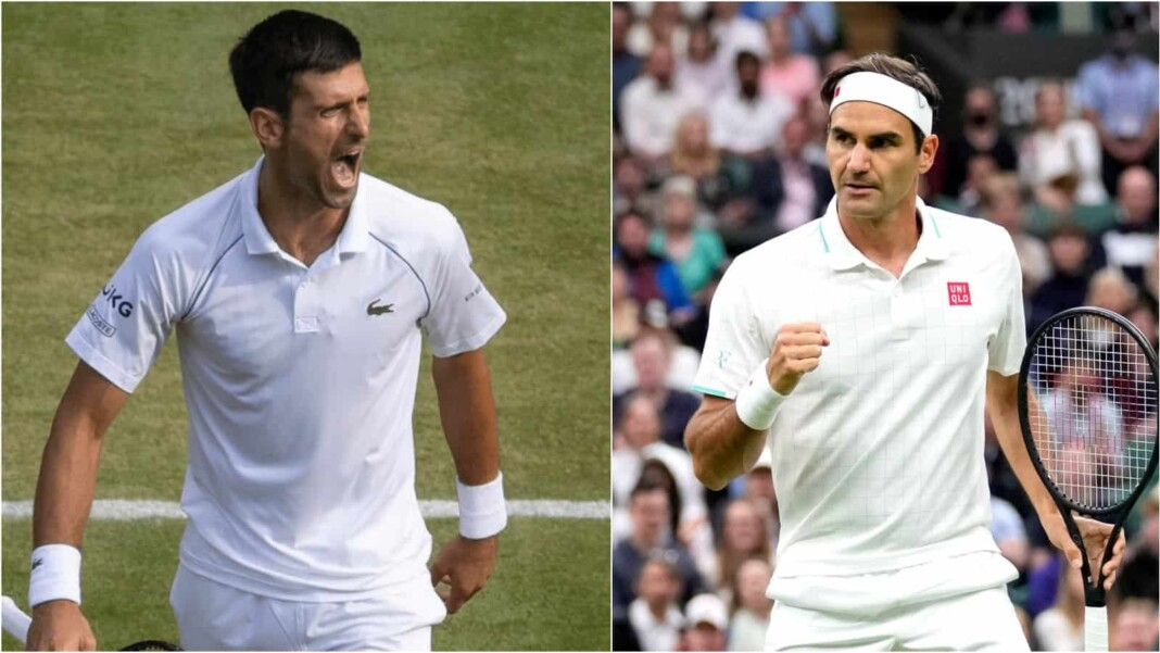 Novak Djokovic and Roger Federer will be playing on Centre Court at Wimbledon 2021