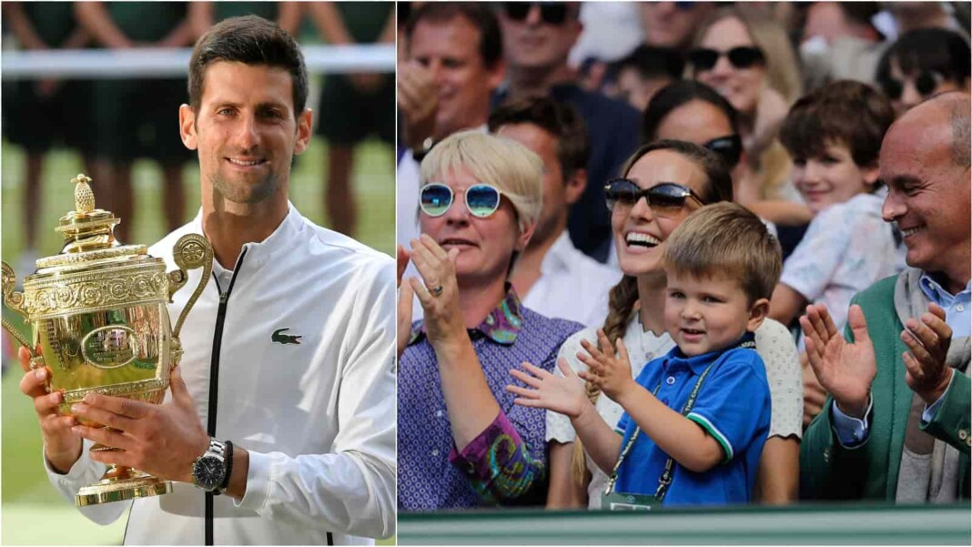 Novak Djokovic and his Family