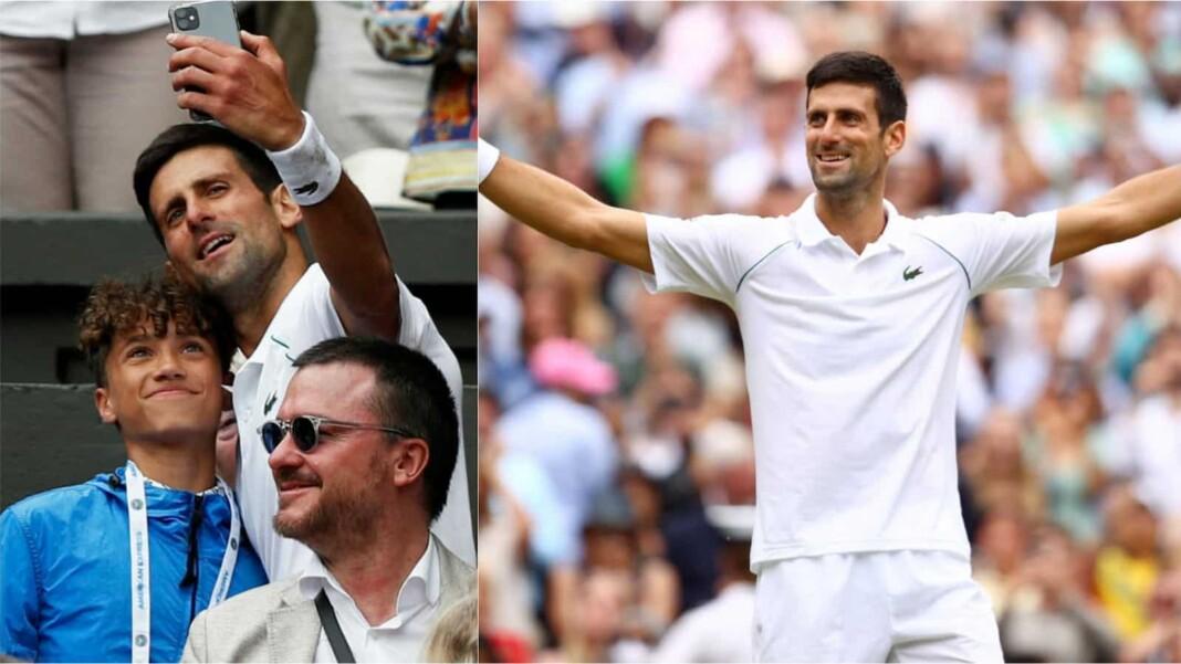 Novak Djokovic selfie