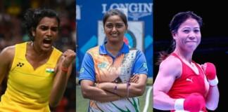 PV Sindhu, Deepika Kumari and Mary Kom