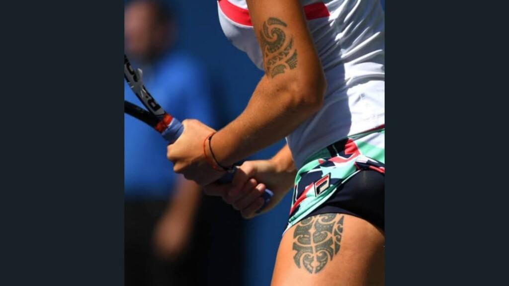 Karolina Pliskova's tattoo
