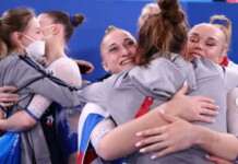 ROC win historic gold medal in women's team all around finals at Olympics