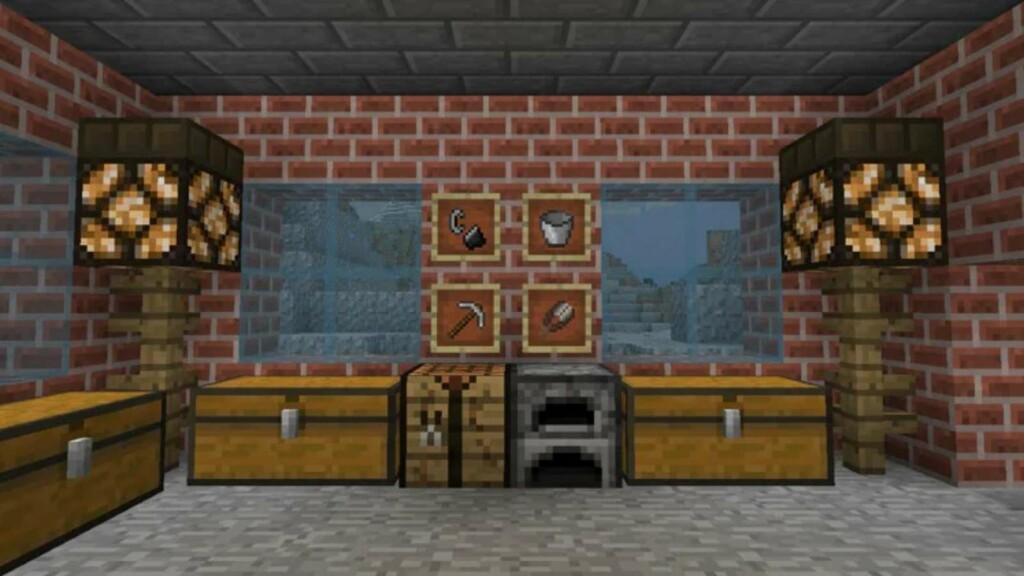 Redstone Lamp in Minecraft
