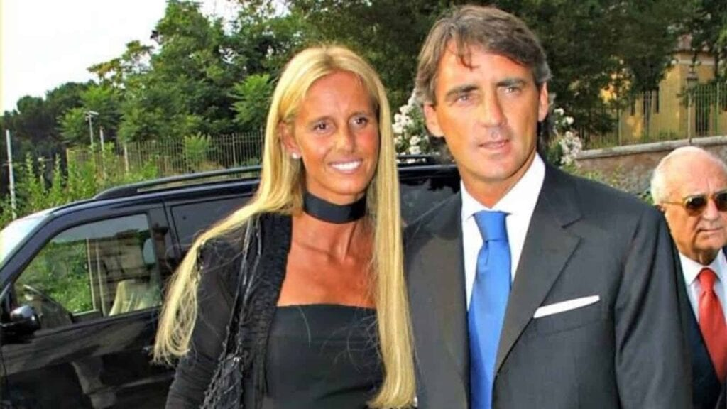 Roberto Mancini with his first wife