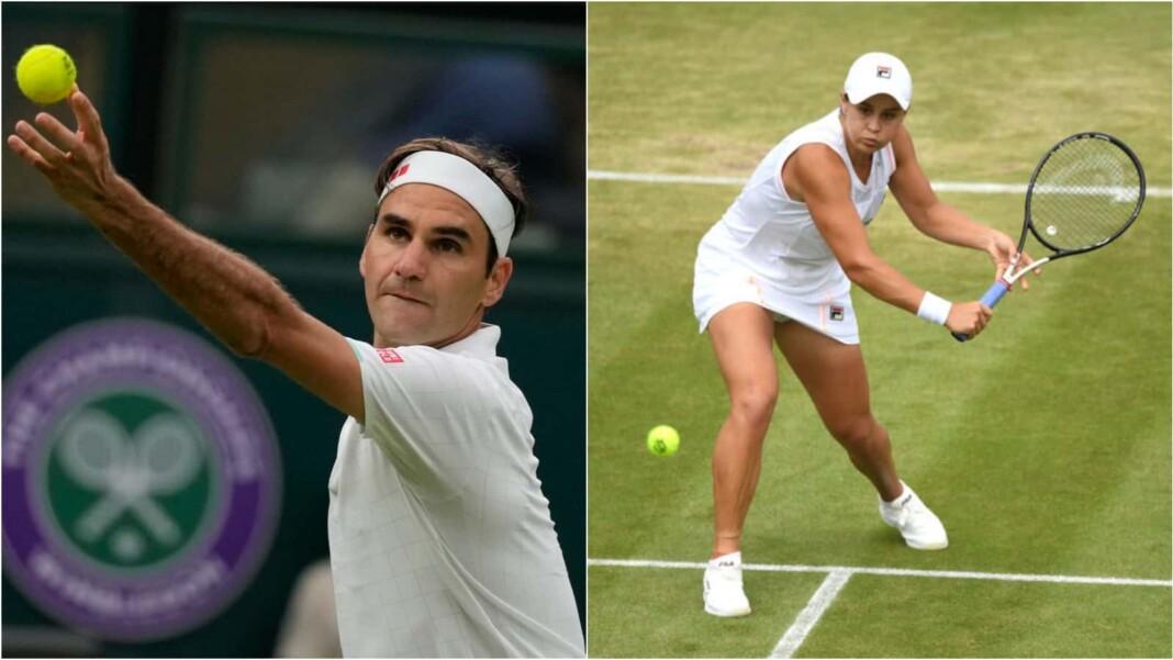 Roger Federer and Ashleigh Barty
