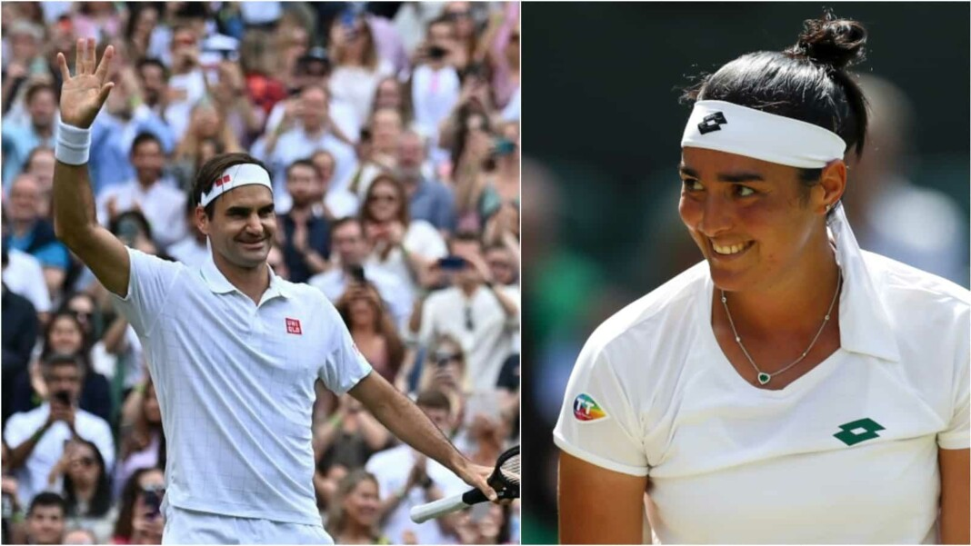 Roger Federer and Ons Jabeur