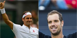 Roger Federer and Richard Gasquet