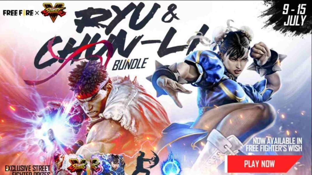Ryu and Chun-Li Bundle in Free Fire