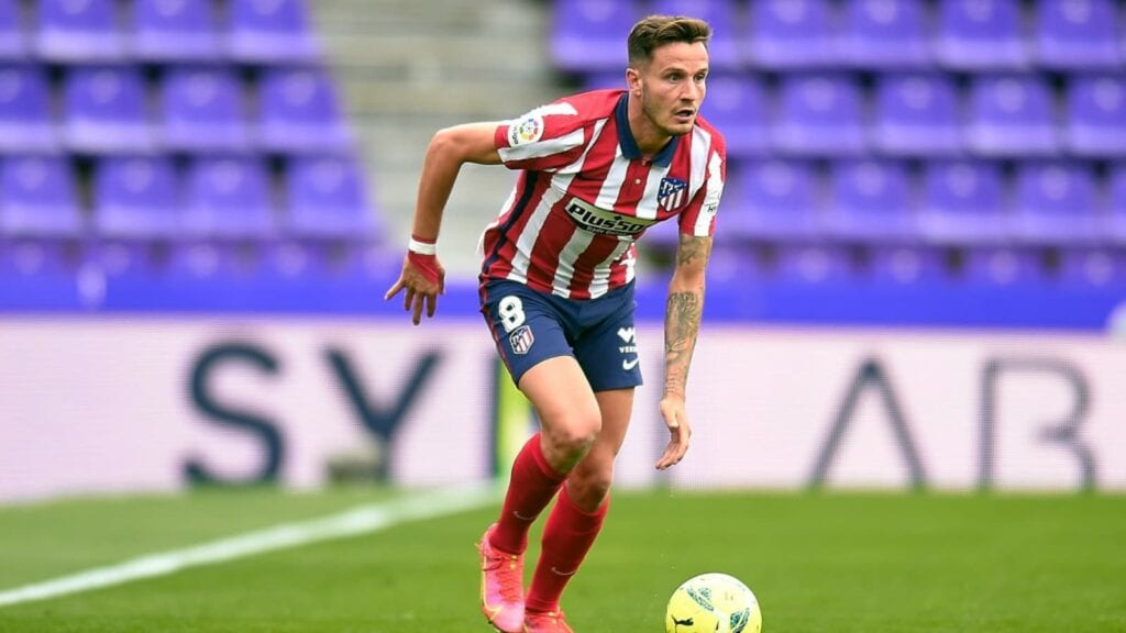 Saul Niguez in action for Atletico Madrid