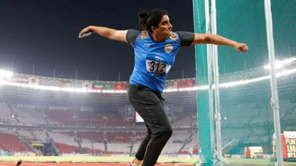 Seema Punia; Athletics at Tokyo Olympics