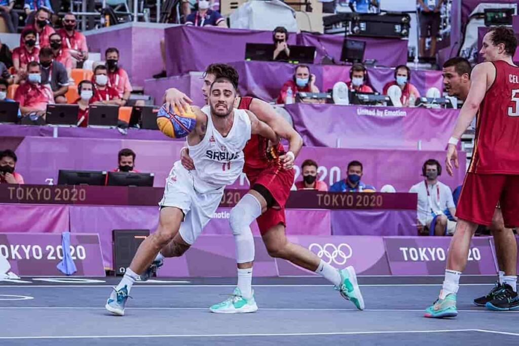Serbia in Action at 3V3 Basketball at Tokyo Olympics 1 - FirstSportz
