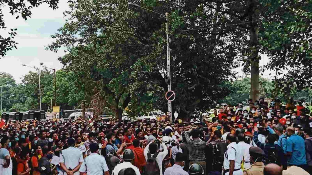 Several hundreds of fans flooded the streets in protest - FirstSportz