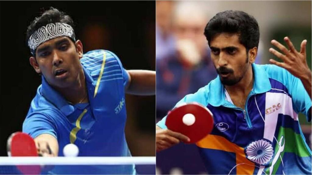 Sharath Kamal and G Sathiyan