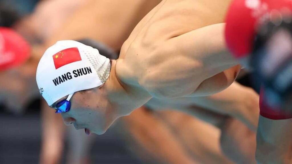 Swimming at Tokyo Olympics; Wang Shun